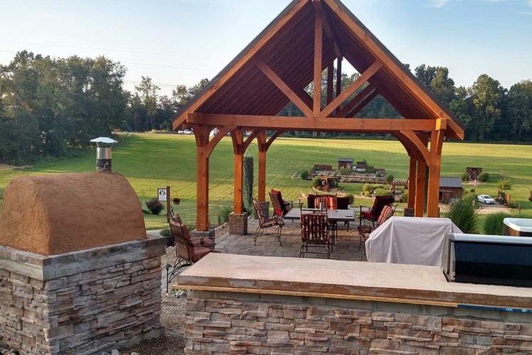 Diy Outdoor Living Completed Kitchen Pizza Oven And