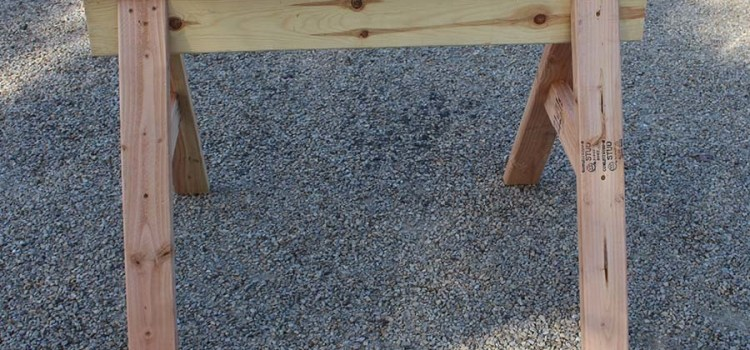 Homemade Sawhorse Plans – Simple, Cheap And Perfect For Every DIY'er!
