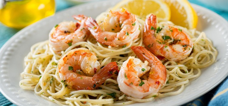 Shrimp Scampi Recipe – Garlic Butter Shrimp Served Over Pasta