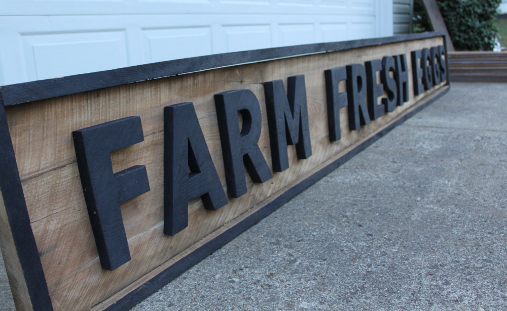 Making Vintage Signs From Pallets Or Barn Wood On The