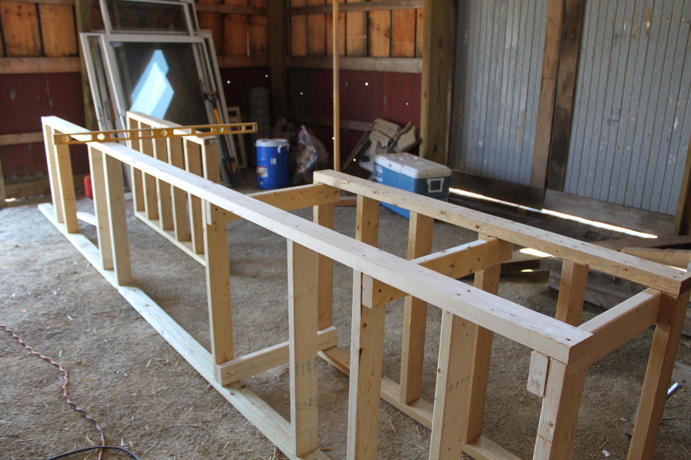outdoor kitchen frame