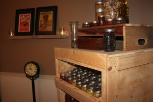 Pallet Projects - Canning Cabinet, Wall Shelf and Crate all made from Pallets