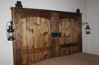 How To Build A Rustic Barn Door Headboard | Old World ...