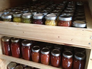 Canning is a major priority when it comes to meeting our food goals