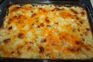 Classic scalloped potatoes and ham casserole