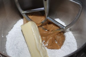 Mix the ingredients until it is the consistency of cookie dough