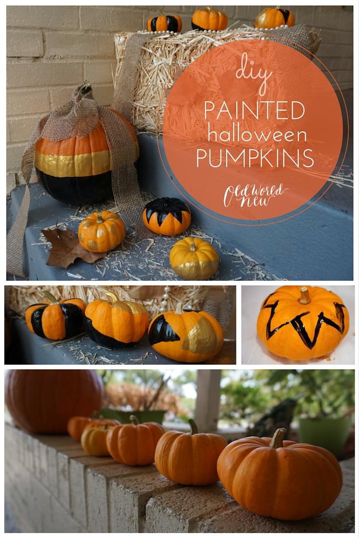 Diy painted halloween pumpkin via Old World New