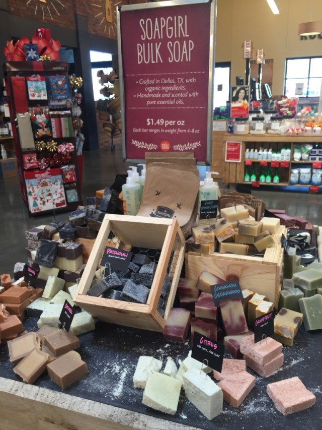 Soap Girl of Dallas, Texas soaps at Whole Foods Market via Old World New