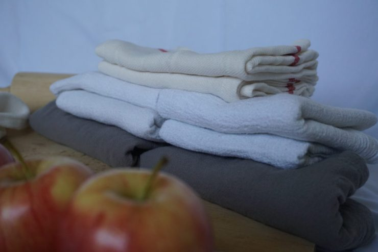 cloth towels paperless kitchen un-paper towel via Old World New