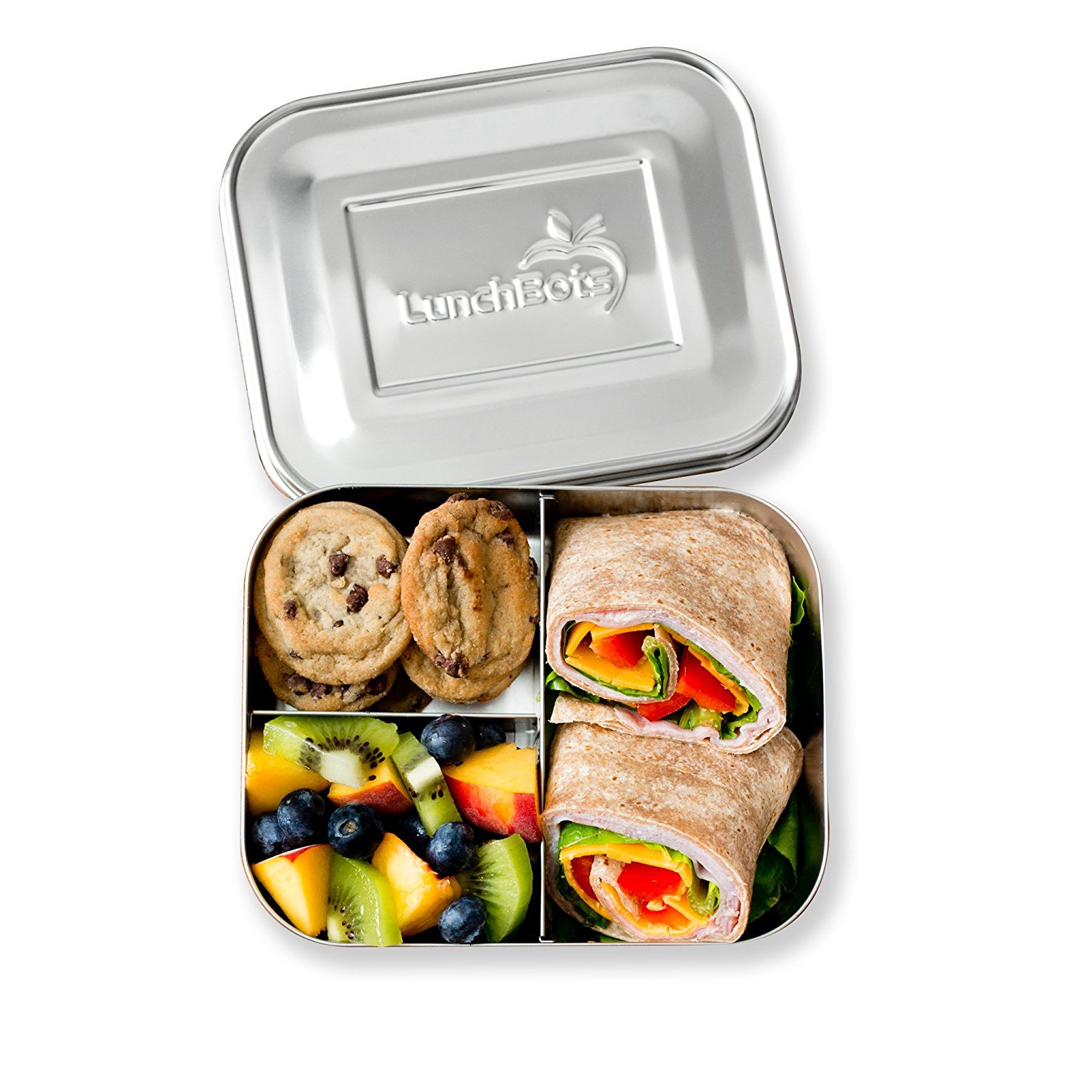 sustainable eco-friendly stainless steel lunch container ukonserve lunchbots trio II