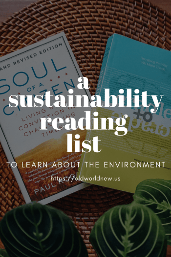 sustainability book readling list
