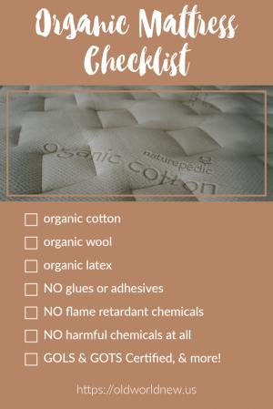 Organic Mattress Checklist