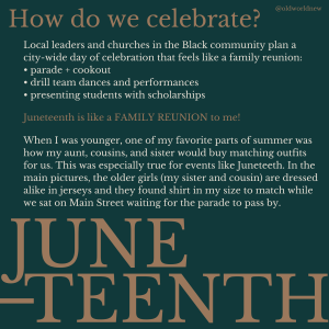 How do we celebrate Juneteenth