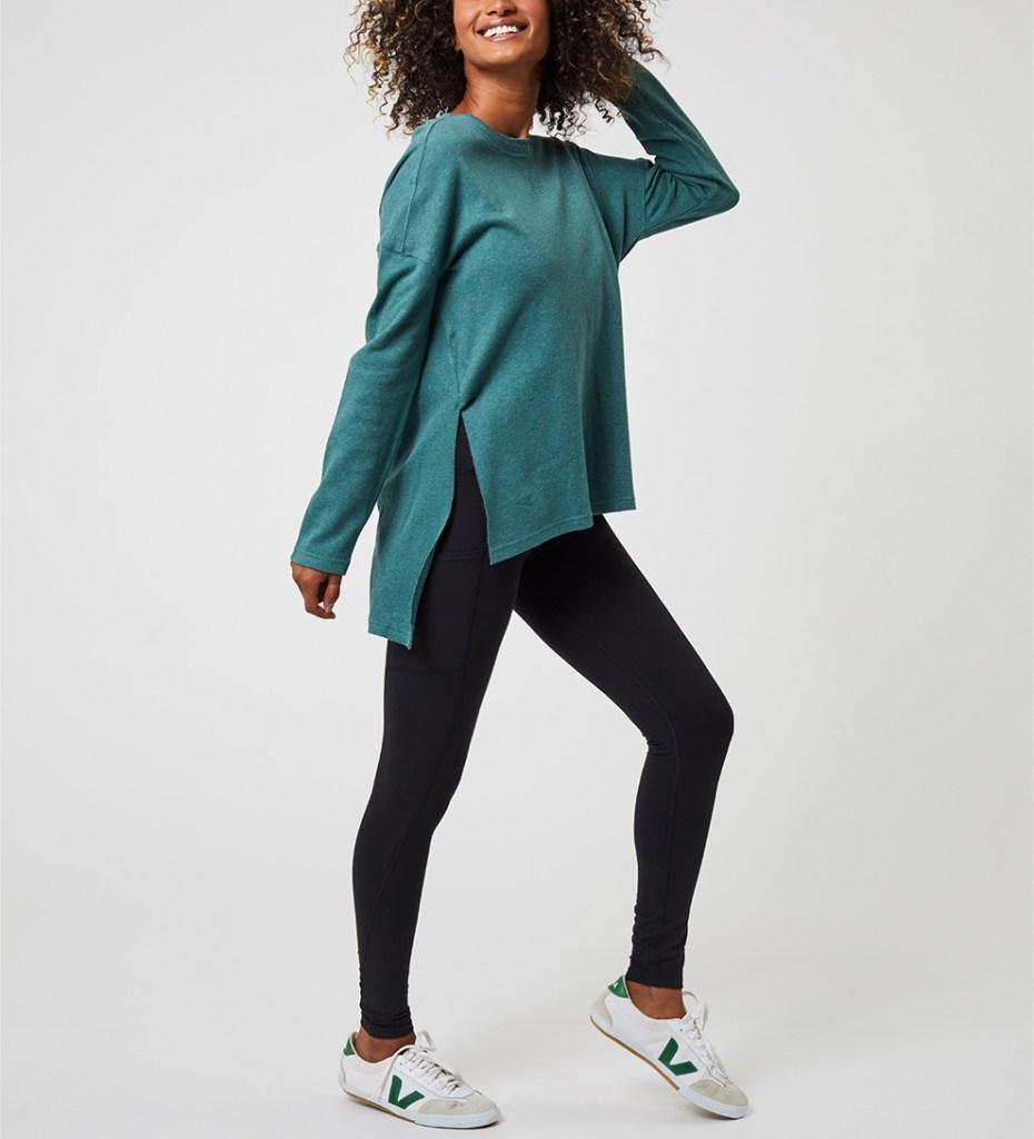 pact organic cotton shirt - side slit tunic