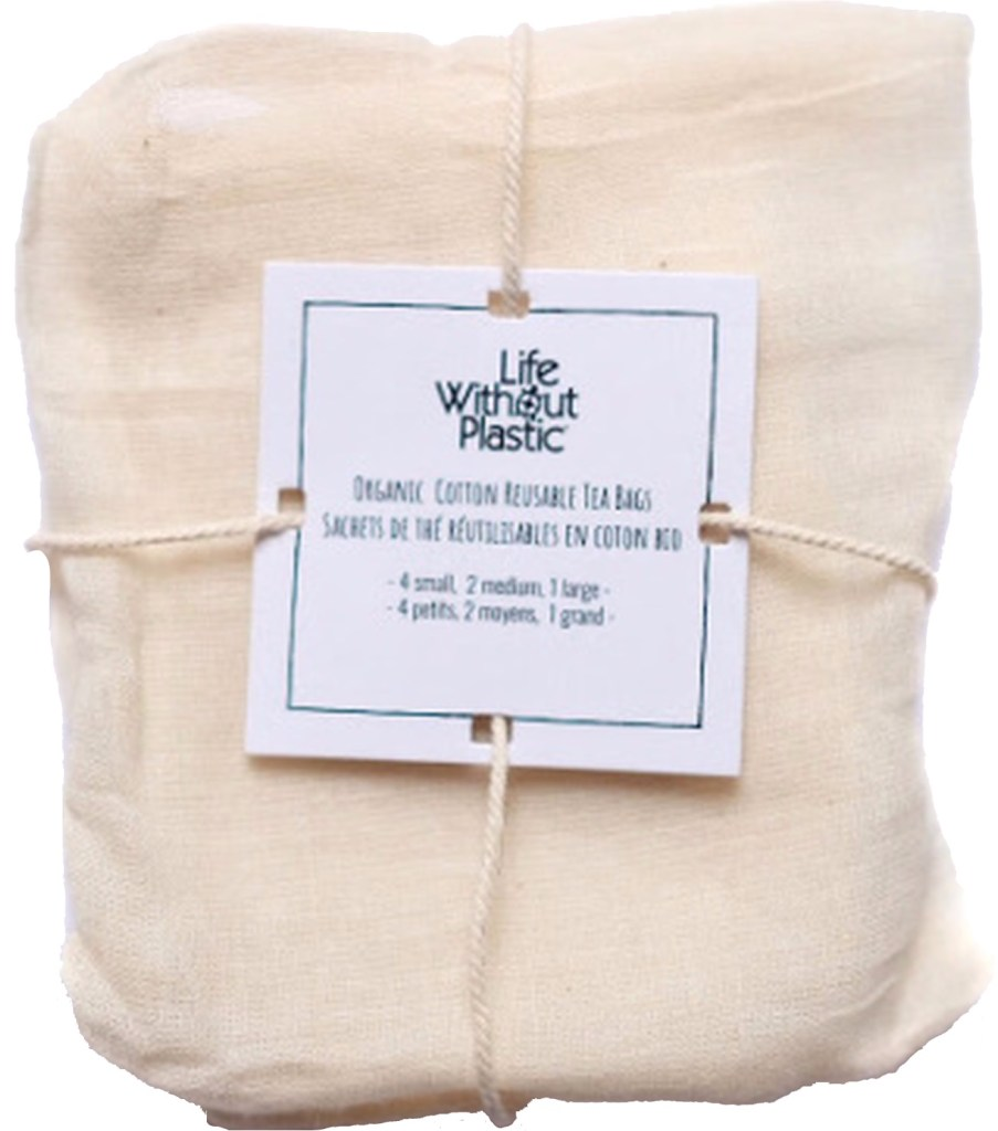 organic cotton tea bags - life without plastic