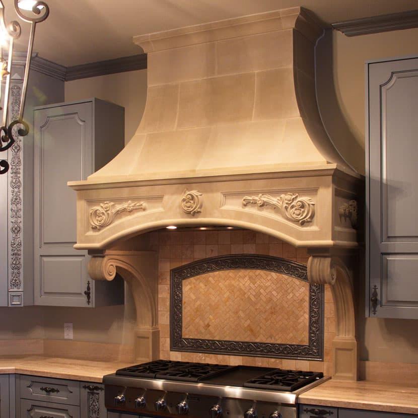 wood kitchen set best brand for appliances florentine cast stone range hoods - old world ...