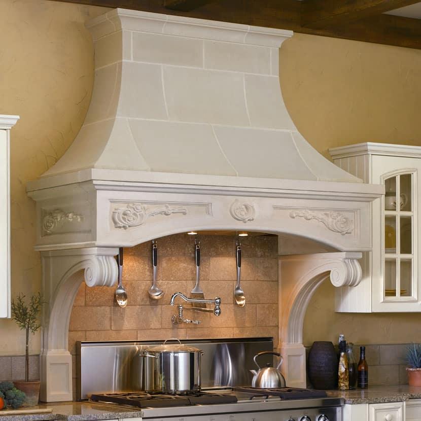 Florentine Cast Stone Kitchen Range Hoods Old World Stoneworks