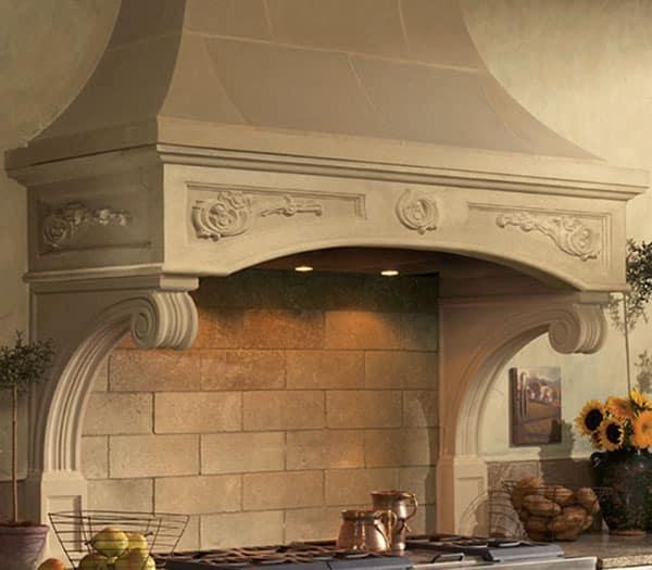 Florentine Kitchen Cast Stone Range Hoods  Old World Stoneworks