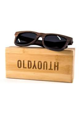 wooden sunglasses on wood case