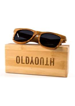 zebra wood sunglasses on case