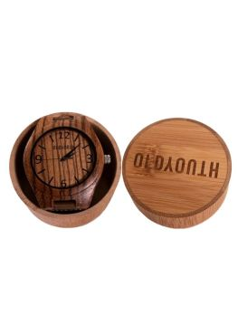 wooden watch in case