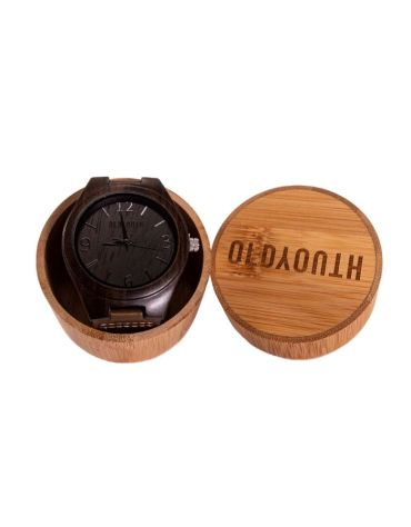 wooden watch in case