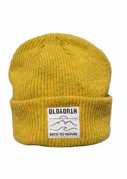 Mustard merino wool hat
