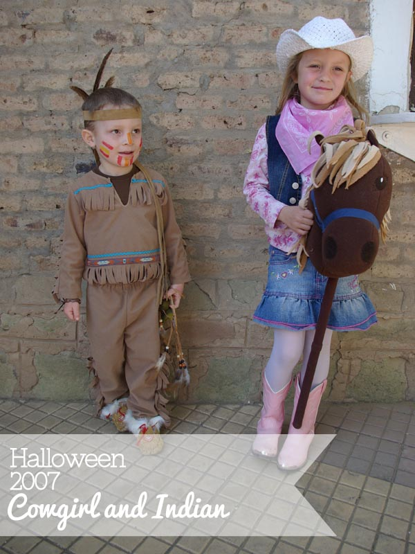 Cowgirl And Indian Halloween Costumes - Oleander  Palm-2802