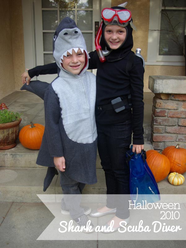 Shark and Scuba Diver Halloween Costumes - Oleander + Palm