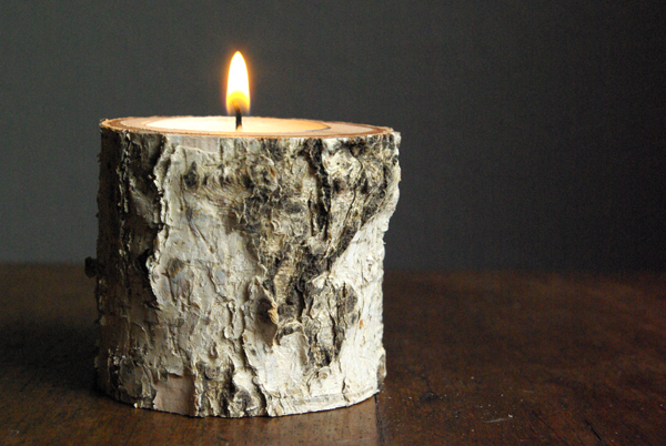Image result for birch tree candle holders