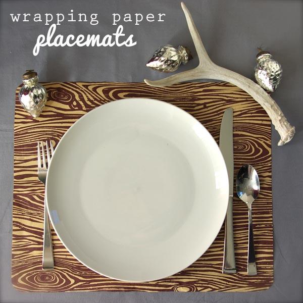 Unique Wrapping Paper Placemats - Oleander + Palm DM25