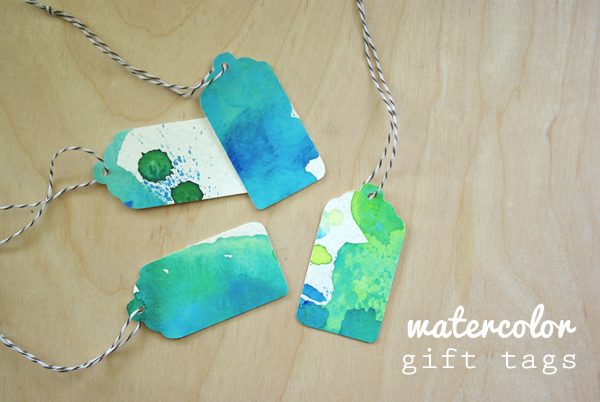 Watercolor Gift Tags Oleander Palm