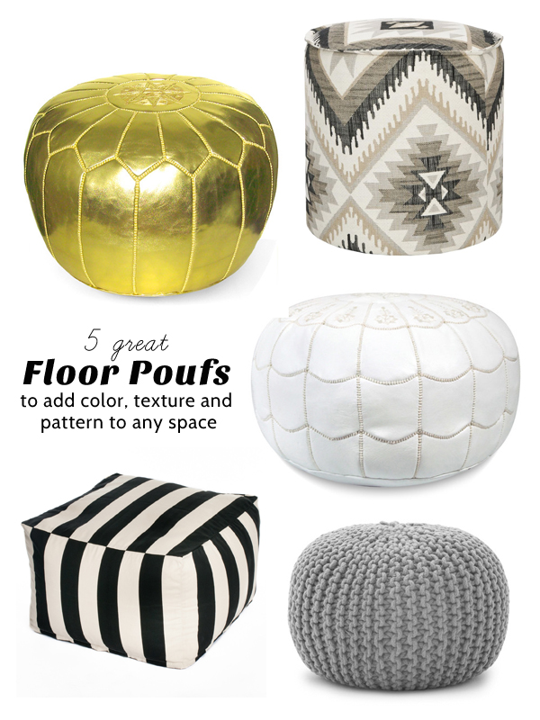 Iu0027ve Found 5 Great Floor Poufs That You Might Want To Consider For Your  Space.