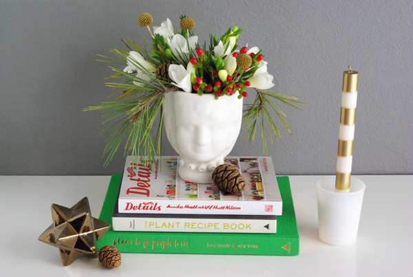 Diy Holiday Floral Arrangement Oleander Palm