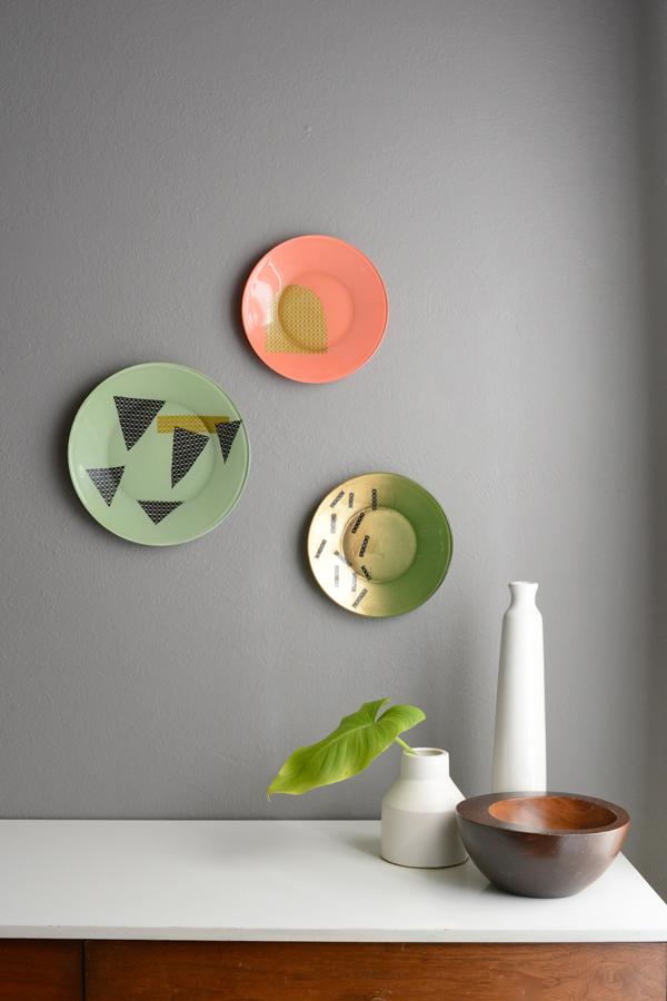 Diy Modern Decorative Plates Oleander Palm