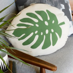 DIY Tropical Leaf Pillow