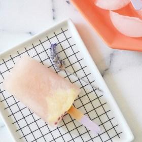 Lavender Lemon Popsicles