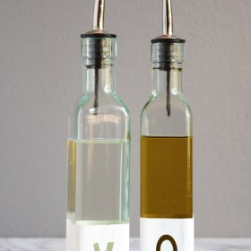 DIY Modern Oil and Vinegar Bottles