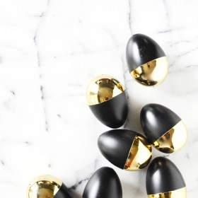 Modern Black and Gold Easter Egg Treats