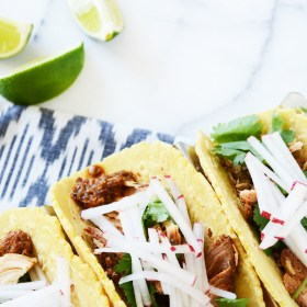 Chicken Mole Slow Cooker Tacos