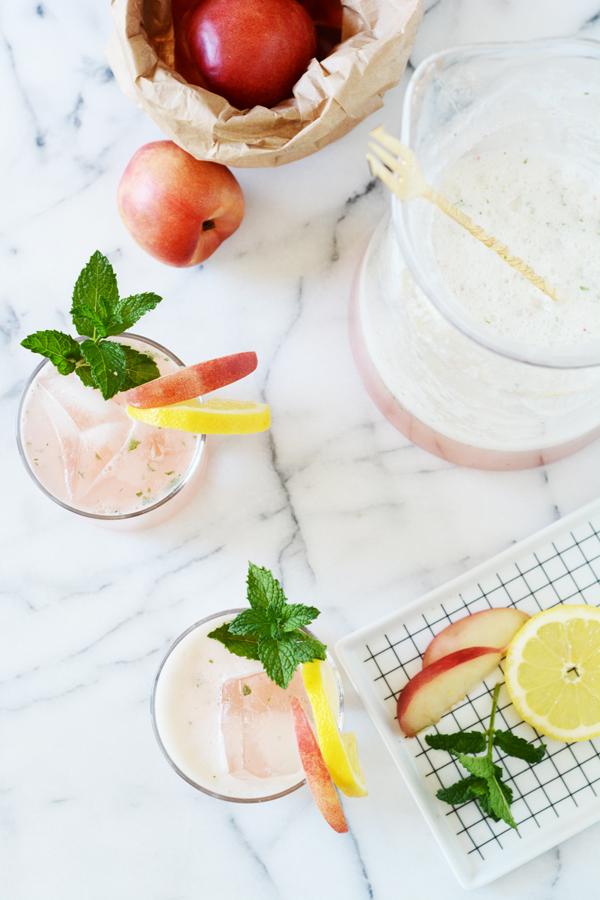 _sparkling nectarine mint lemonade 9
