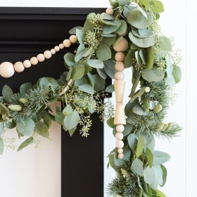 Scandinavian Wooden Bead Icicle Garland