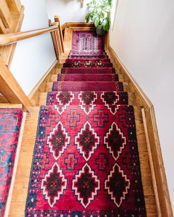 red carpet stair runner