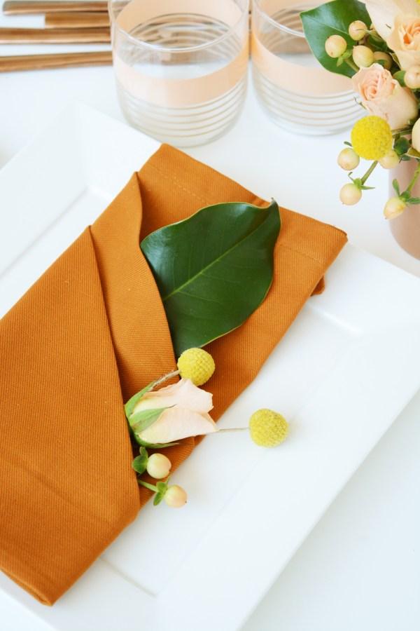 Fancy Napkin Folding for Fall