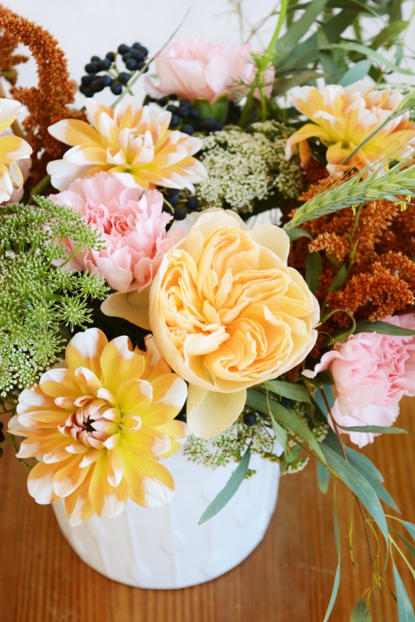 Peach and Pink Fall Florals