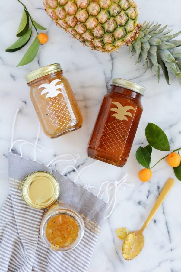 pineapple kumquat cardamom marmalade