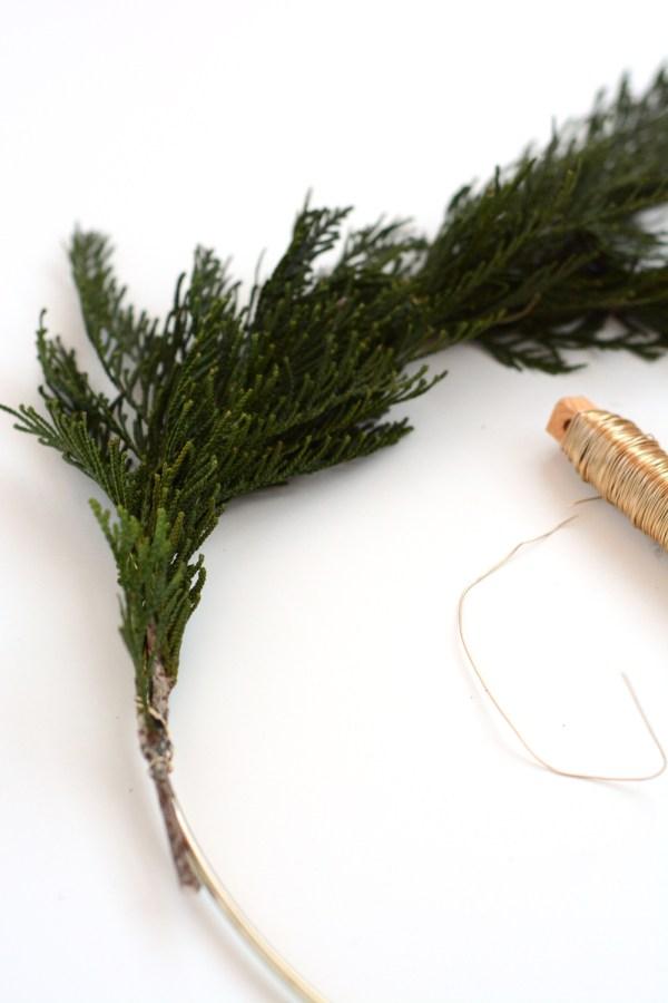 DIY Modern Winter Wreaths