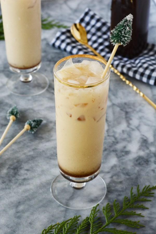 Iced Gingerbread Milk Mocktails