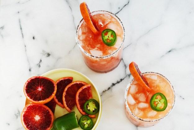 Blood Orange Jalapeno Mock-Margarita