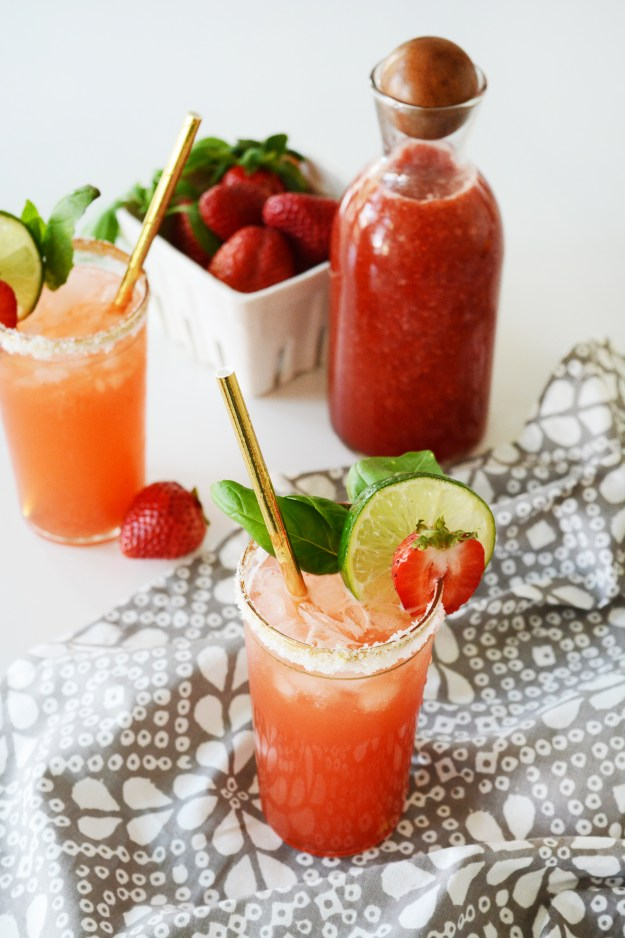 Strawberry Basil Mock-Margarita